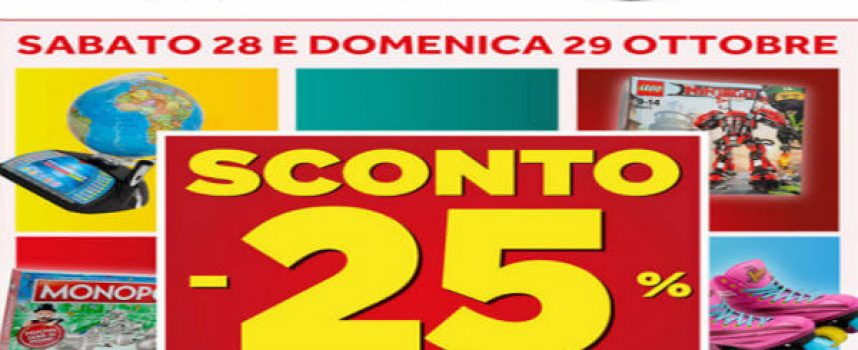 Week-end di sconti da Toys Center