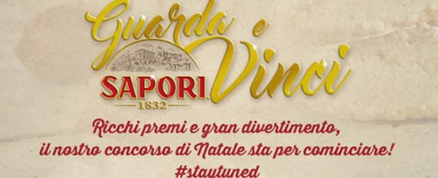Guarda e Vinci con Sapori: in palio un buono Amazon da 800 euro