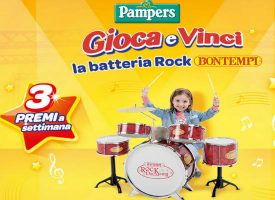 Vinci la batteria Rock Bontempi con Pampers