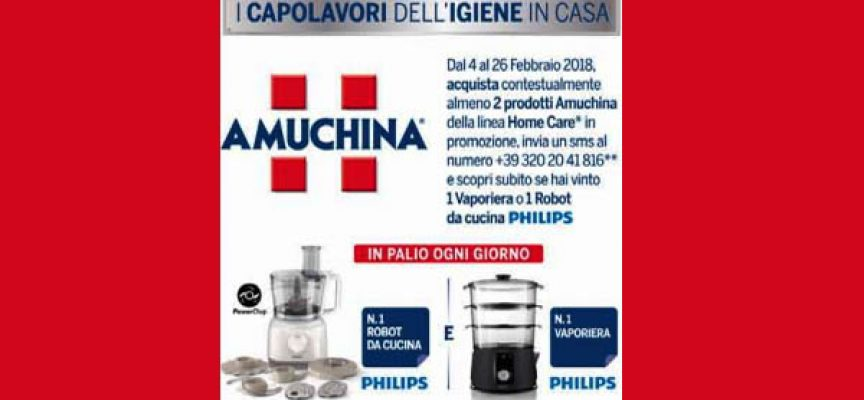 I capolavori dell'igiene di casa: Amuchina regala Philips