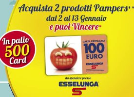 Con Pampers vinci un gift card Esselunga da 100 euro