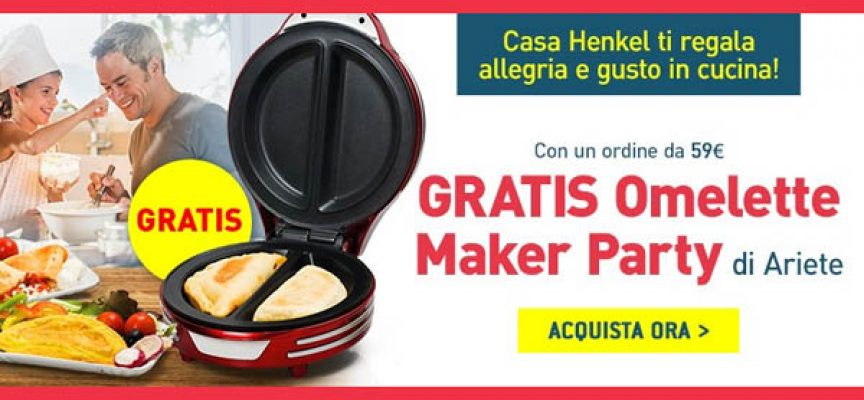 Casa Henkel ti regala la Omelette Maker Party di Ariete