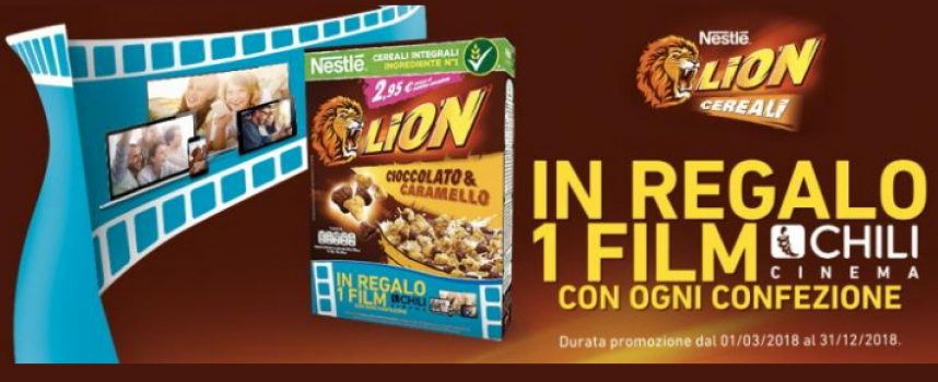 I Cereali Lion ti regalano il noleggio di un film su Chili Cinema