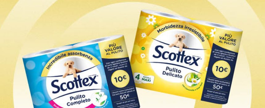 Scottex ti regala un buono da 10 euro per fare shopping on line