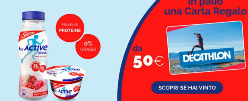 Con Sveltesse Be Active vinci ogni giorno una gift card Decathlon