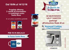 Richiedi la tazza Santa Rosa e vinci un Kenwood Cooking Chef Gourmet