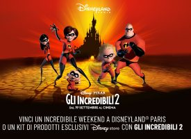 "Vola a Disneyland Paris con The Space e ""Gli Incredibili 2"""
