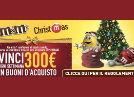 M&M's Christmas: vinci ogni settimana un Ticket Compliments da 300 euro