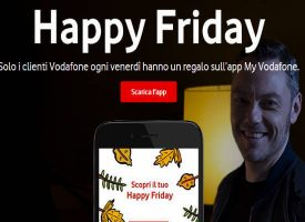 Happy Friday Vodafone ti regala buoni sconto Levi's, Goldenpoint e Moleskine
