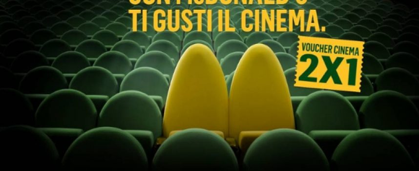 McDonald's ti regala un buono cinema in formula 2×1
