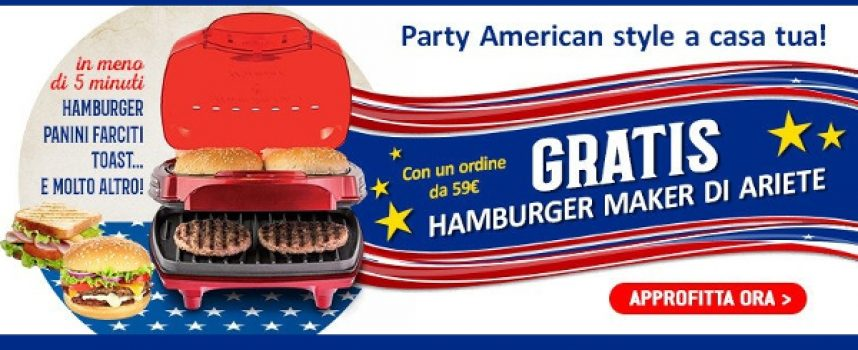 Casa Henkel ti regala l'originale Hamburger Party Time di Ariete