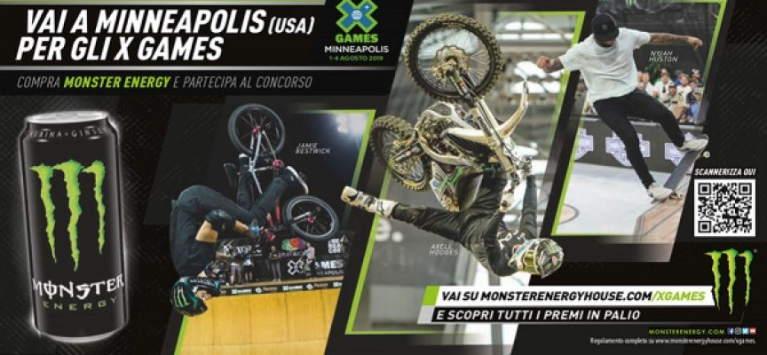 Monster Energy: vola a Minneapolis per assistere agli X Games Summer