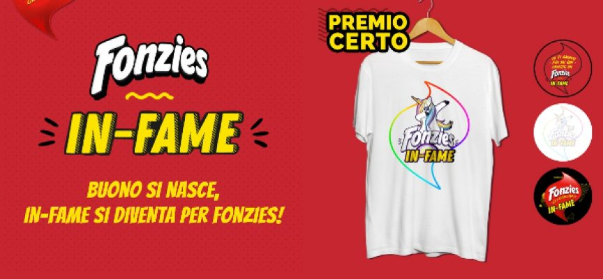 Premio certo Fonzies: in regalo la divertente t-shirt in-fame