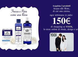Con Acqua alle Rose vinci 150€ di shopping su Yoox
