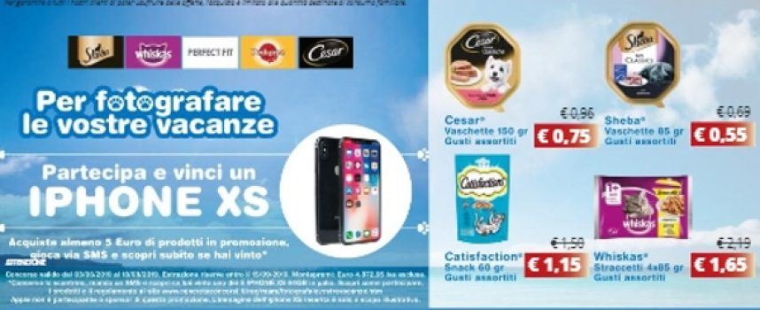 Acquista Pedigree, Whiskas, Cesar o Sheba e vinci un iPhone XS