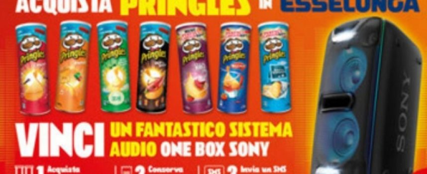 Acquista Pringles da Esselunga e vinci un sistema audio One Box Sony