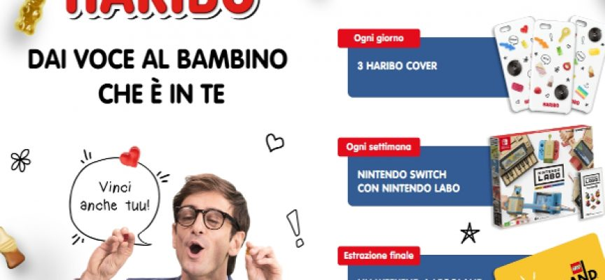 Con Haribo in palio Nintendo Switch e un weekend a Legoland
