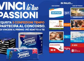 Vinci le tue passioni con Tempo: in palio gift card e weekend