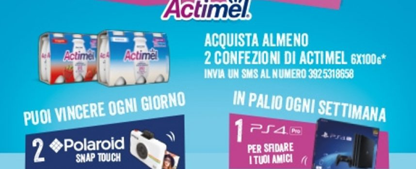 Con Actimel vinci Polaroid Snap Touch e PlayStation 4 Pro