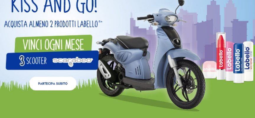 Kiss and go: con Labello vinci ogni mese 3 scooter Scarabeo