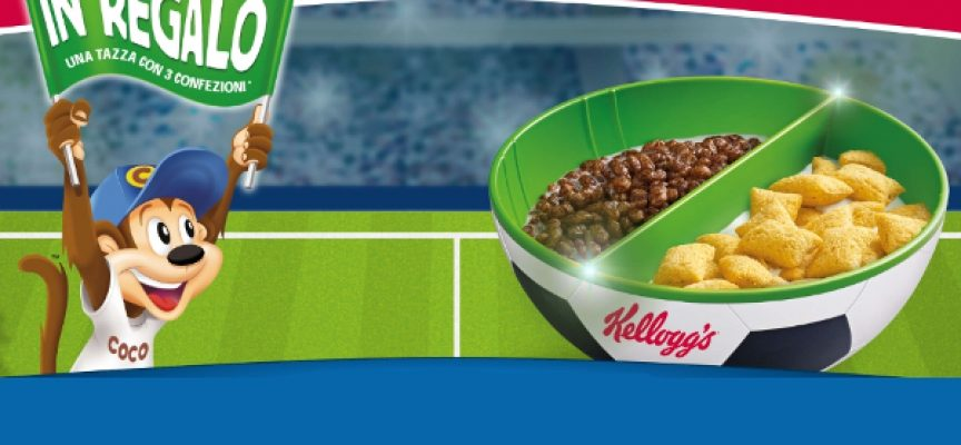 I cereali Kellogg's ti regalano l'originale tazza Footbowl 2020