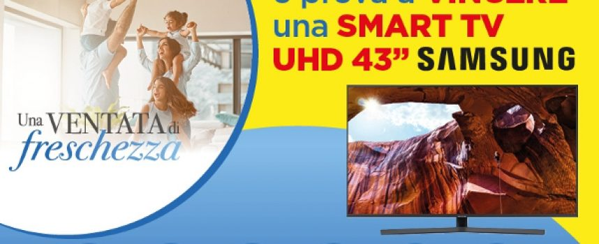 Acquista i prodotti SC Johnson e vinci una Smart TV Samsung