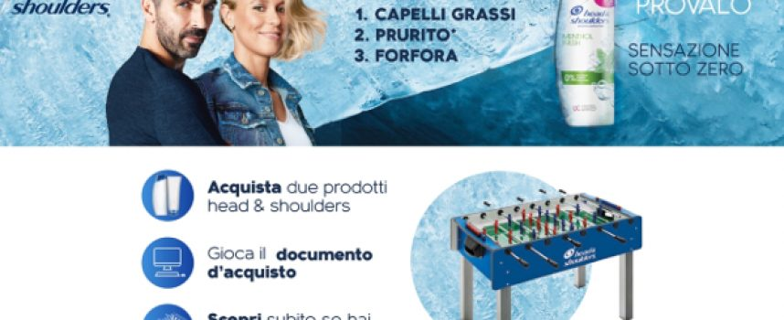 Gioca con Head & Shoulders e vinci un fantastico biliardino