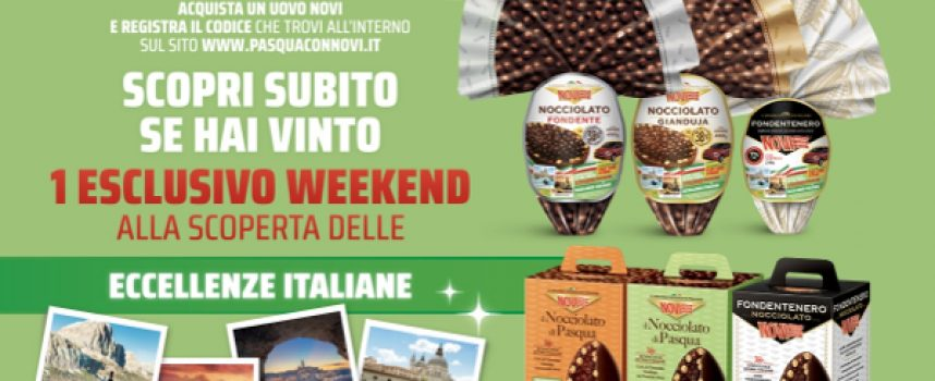 Pasqua con Novi: in palio weekend in Italia e una Fiat 500 Hybrid