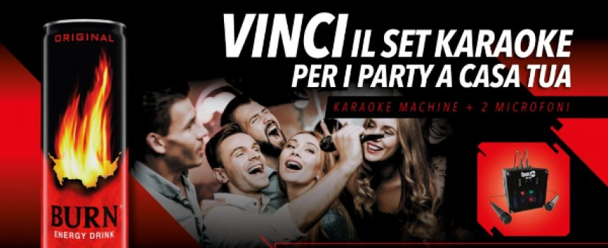 Acquista una lattina di Burn e vinci un kit karaoke